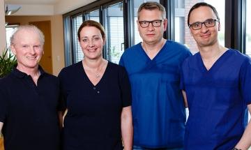 Anästhesisten (Detlev Stolle, Martina Bergmann, Dr. Ludwig Helmke, Dr. Philipp Horstmann)